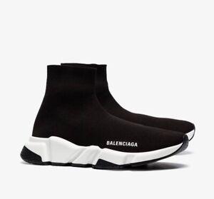 Details Sur Balenciaga Knit Speed Runner Chaussette Mi Haut Noir Blanc Eu41 Uk7 100 Authentique Afficher Le Titre D Origine