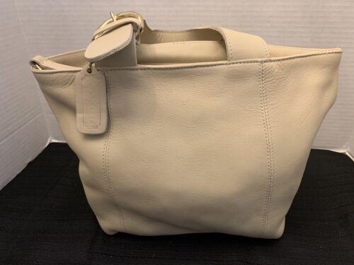 COACH BAG Vintage Ladies Leather Bone White