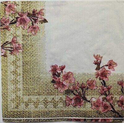 Blossoms Paper Napkins Set of 5 Decoupage napkin #0692