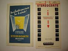 STEREOCARTE BRUGUIERE PARIS RESUME 1  N° 2451