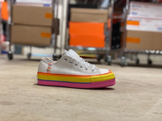 Size 7.5 - Converse Chuck Taylor All Star Lift Low Rainbow ...