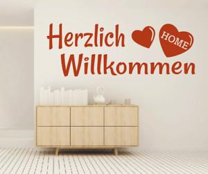 X4460-Wandtattoo-Spruch-Herzlich-Willkommen-Sticker-Wandaufkleber-Aufkleber