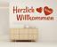 X4460-Wandtattoo-Spruch-Herzlich-Willkommen-Sticker-Wandaufkleber-Aufkleber Indexbild 1