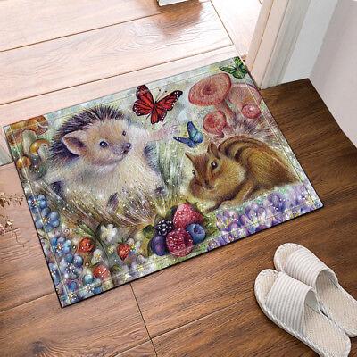 """Gray Rabbit For Easter Bathroom Rug Non-Slip Floor Door Mat Flannel 16x24/"""""""