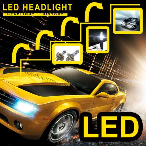 9006 9005 Combo LED Headlight+9145 Fog Light For GMC Sierra 1500 2500 3500 03-06