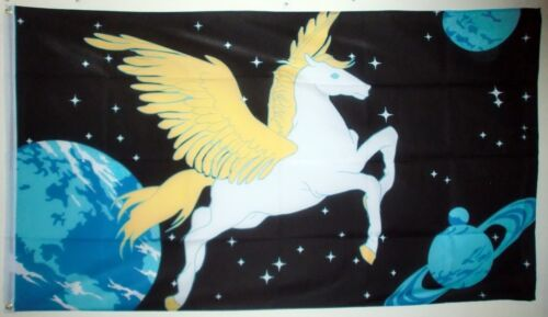 PEGASUS FLAG 5X3 winged horse myths and legends fantasy flags