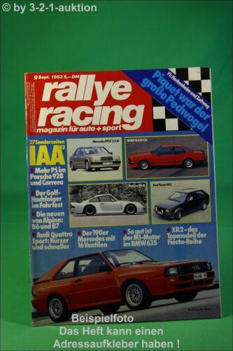 Rallye Racing 9//83 BMW M 635 Audi Quattro Alpina B7 Tur
