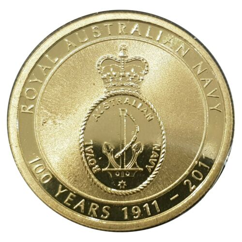 Australia 2011 100 Years of Royal Australian Navy $1 Dollar UNC Coin Carded