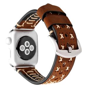 Leather-Strap-For-Apple-Watch-Iwatch-I-Watch-Wrist-Bands-Bracelet-Handmade-Watch