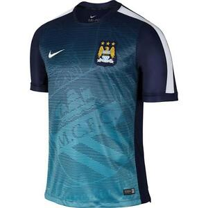 huge discount f6dbf 03343 Details about NEW Nike 2014-2015 Man City Pre-Match Training Shirt  643673-411 Size SMALL