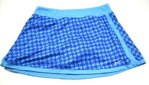 Nike-Women-039-s-Medium-Bright-Blue-Skirt-with-Shorts-Tennis-Workout-Exercise-Skort