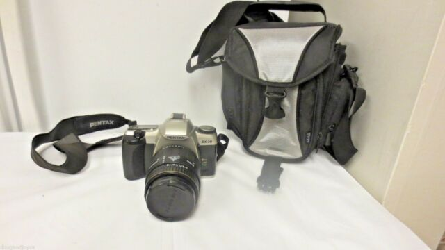 Older Pentax zx-30 35mm Camera-Quantaray 55mm QMC-UV Aspherical Lens,Case