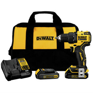 DEWALT-DCD708C2-ATOMIC-20V-MAX-BL-Li-Ion-1-2-in-Drill-Driver-Kit-1-5-Ah-New