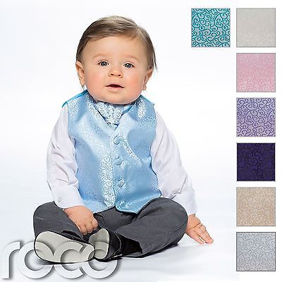 Baby Boys Waistcoat Suit, Page Boy Suits, Grey Trousers, Swirl Pattern Refreshing And Beneficial To The Eyes