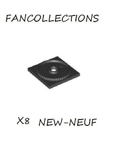 Black Turntable 4x4 Square Base Lego x 8 61485 NEUF Locking
