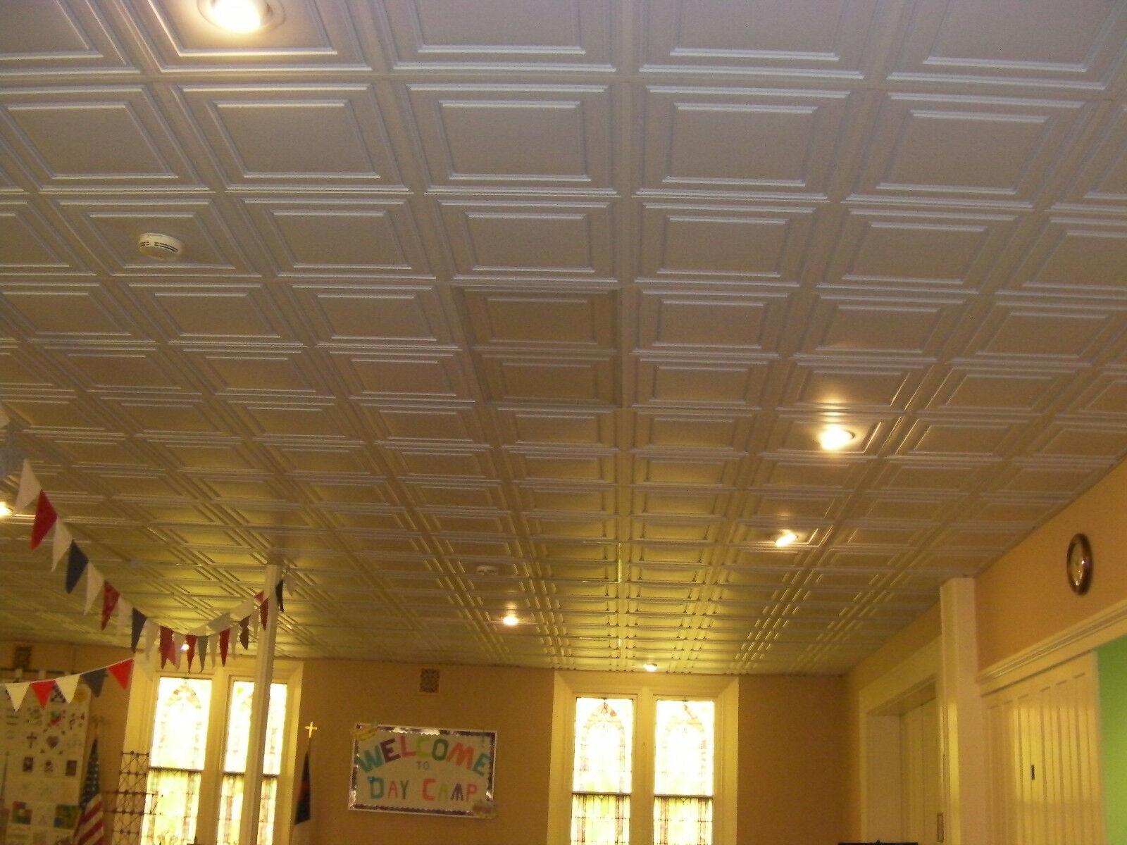 Ceilume Stratford 2/' x 2/' 30 Tiles White