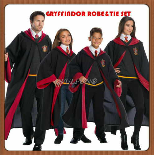 Harry Potter Costume Cape Gryffindor Robe Hermione Granger Cloak With