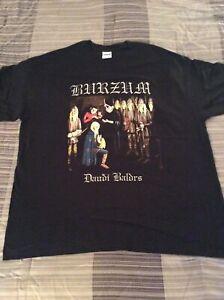 1BURZUM-Daudi-Baldrs-Shirt-XL-Gorgoroth-Urgehal-The-Chasm-Urgehal-Inquisition