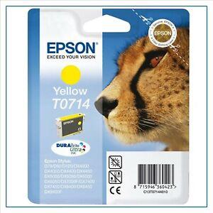 cartuccia per stampante EPSON T0714 giallo originale d 78 sx 100 400 dx 4000