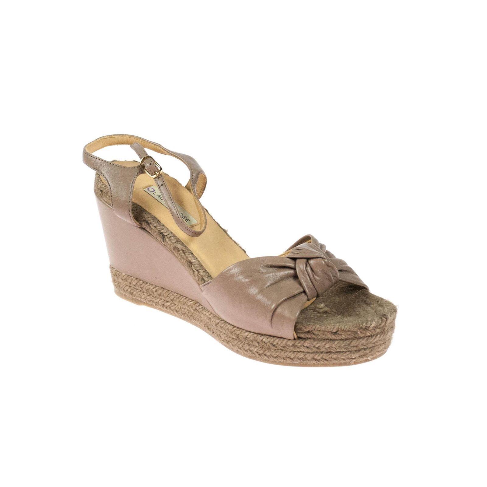 Zapatos casuales salvajes Descuento por tiempo limitado Lautre Chose Damen Wedges Keilabsatz Leder Braun