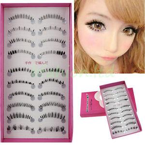 Eye-Lashes-10Pairs-Bottom-Under-Lower-Wispies-Corner-Different-Fake-Eyelashes