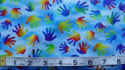Children/'s Hands Fabric fat 1//4  Jesus loves Little Children 100/% cotton 27070 B