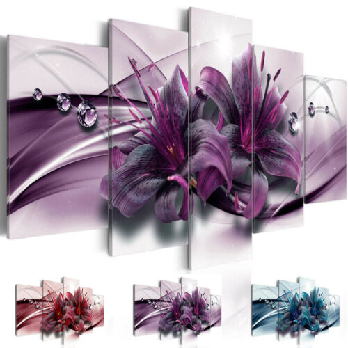 Unframed Modern Flowers Art Oil Canvas Painting Picture Print Home Wall Decor