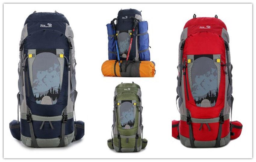 80L Wanderrucksack Reiserucksack Trekking Rucksack wasserabweisend Nylon