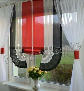Moderne Gardinen Wohnzimmer Fensterdekoration Rot Fenster 120 -180 ...