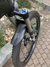 FOX Mud Guard Fahrrad Schutzblech // R/ückseite Schwarz mit wei/ßem Logo schwarz Logo