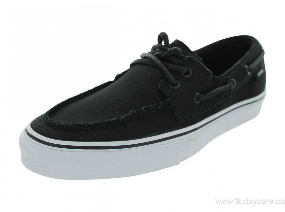 Original Vans Zapato Del Barco VN-0XC36BT Black Canvas Casual Men