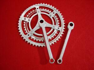 Nervar-Chrome-Steel-170-mm-Cottered-Crank-Set-Road-52-40-Used