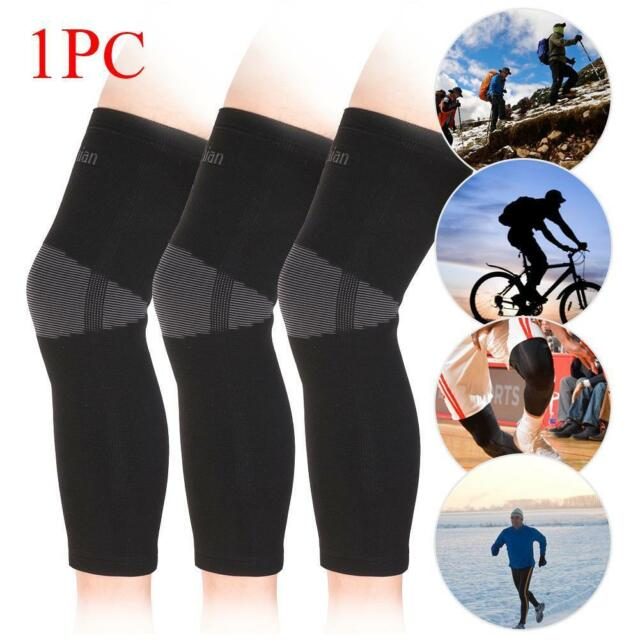 Elastic Knee Pad Wrap Support Brace Arthritis Injury Long Sleeve Protector MT