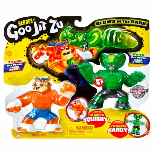 "Tygor /& Viper HEROES OF GOO jit zu Glow in the Dark Action Figures 4/"""