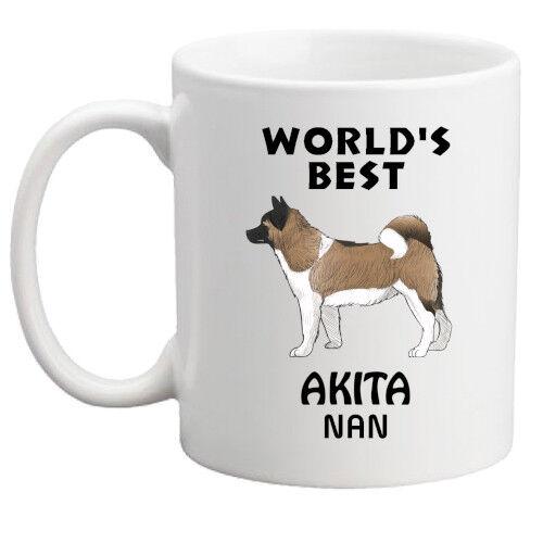 World/'s Best Nan//Nanny//Mum//Dad//Granny//Grandpa//Grandma//Grandad Akita mug