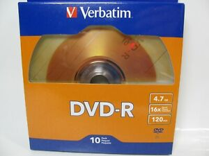 10-Pack-Verbatim-97957-DVD-R-4-7GB-16X-120-min-Brand-New-Sealed