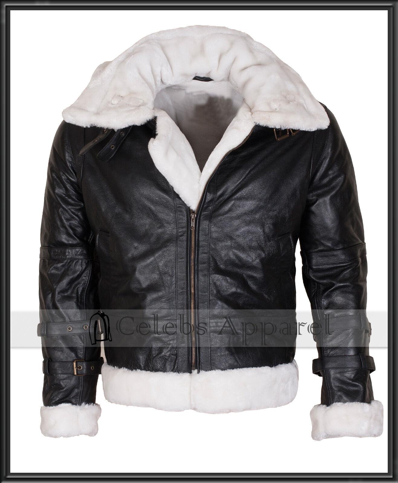 Veste en cuir Bomber pour homme aviateur B3 en peau de mouton véritable hiver Jet Pilot pour hommes