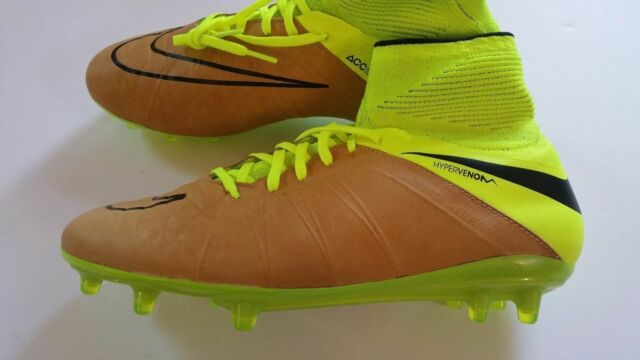 the sale of shoes order top quality NIKE HYPERVENOM PHANTOM II FG SOCCER CLEATS SIZE 8.5 VOLT CANVAS 747501-707