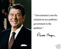 Ronald Reagan government Is Not The Solution Autograph Quote Photo Photograph