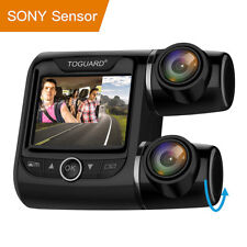 "TOGUARD 2"" Dashcam Car Camera HD 1080P Dual Len 340° Front Rearview DVR Recorder"