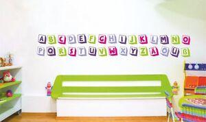 Bon CœUr Set Alphabet Autocollant Lettres Mural 4 Couleurs-abc Sticker Wall Autocollant-afficher Le Titre D'origine