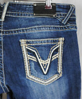 Vigoss The Chelsea Boot Cut Premium Jeans Arrows Mid Rise Denim Women 3/4