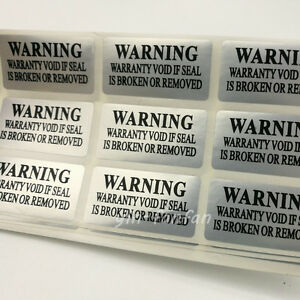 200PC VOID Security Removed Tamper Evident Warranty silver Label Sticker new