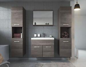 Détails sur Meuble de salle de bain Montréal xl 60 cm lavabo Bodega -  Armoire de rangement M
