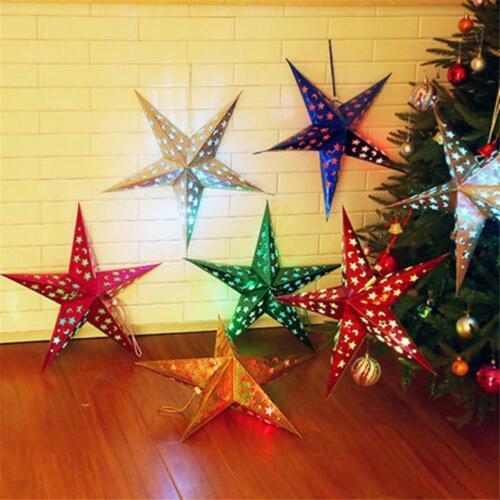 Star Paper Lantern Lampshade Wedding Party Xmas Pub Decor Hanging New Z7K0