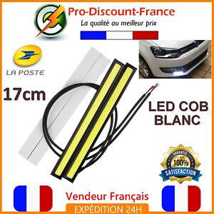 Feux-de-Jour-LED-COB-17cm-Blanc-Xenon-6W-12V-Camion-Quad-Barre-Veilleuse