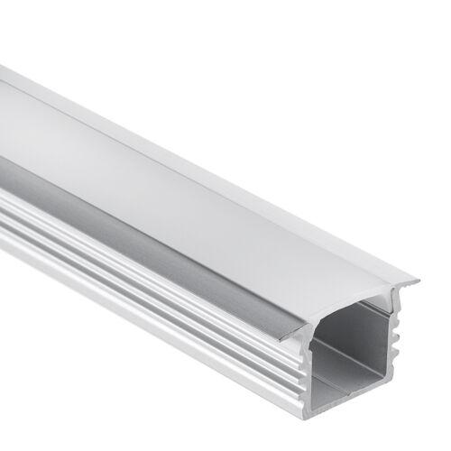 LED Streifen 2m PL3 Aluminium Profil Glanfar f Abdeckung opal Aluprofil