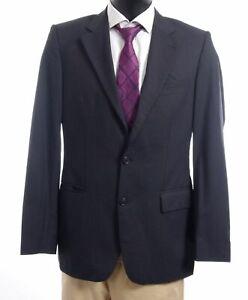 HUGO BOSS Sakko Jacket Gable1 Gr.94 blau Nadelstreifen Einreiher 2-Knopf -S304