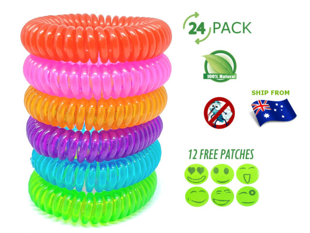 24x Mosquito & Insect Repellent Bands Natural Deet Free Outdoor Kid Child Safe