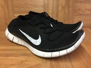 RARE-Nike-Free-Flyknit-Black-Anthracite-Sz-8-615805-010-Men-s-Shoes-Woven-LE